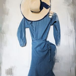 EXPRESS Denim Wrap Dress